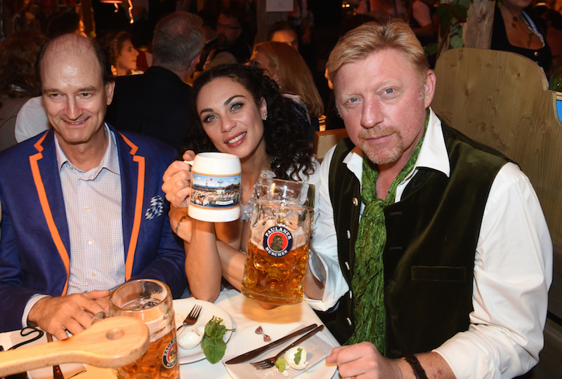 Boris Becker zavítal na Oktoberfest do Michova.