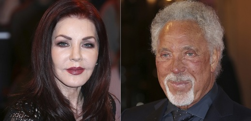 Priscilla Presley a Tom Jones.