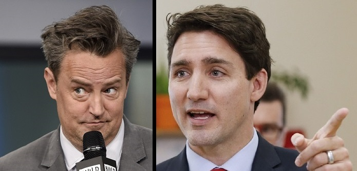 Matthew Perry a Justin Trudeau.