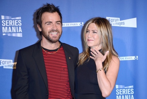 Justin Theroux a Jennifer Aniston.