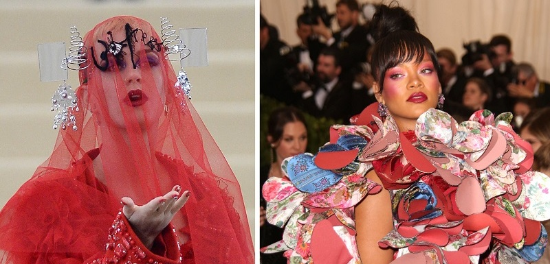 Katy Perry a Rihanna.
