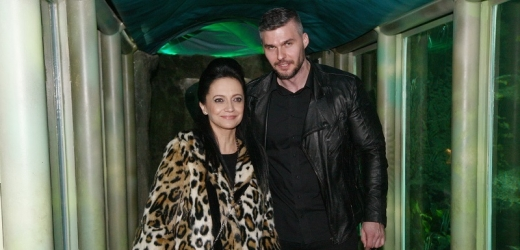 Lucie Bílá dorazila s expartnerem Radkem Filipim.