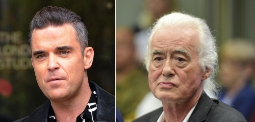 Robbie Williams a Jimmy Page.