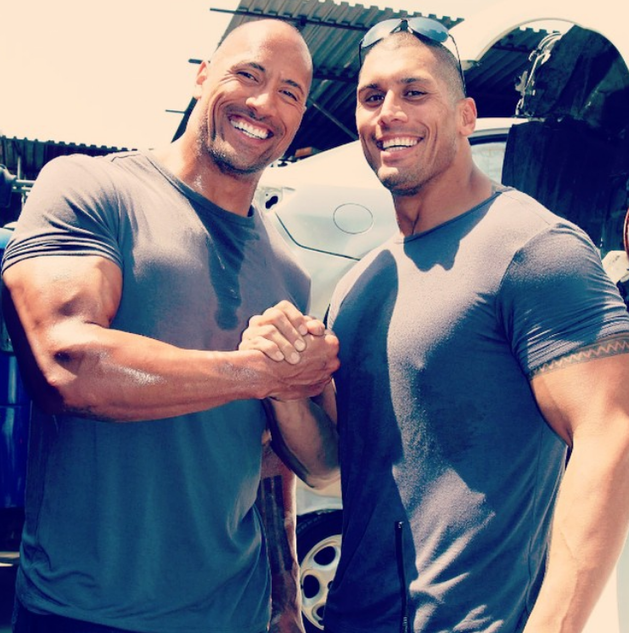 "Dwayne ""The Rock"" Johnson a Tanoai Reed."