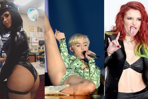 Demi Lovato, Miley Cyrus a Bella Thorne.
