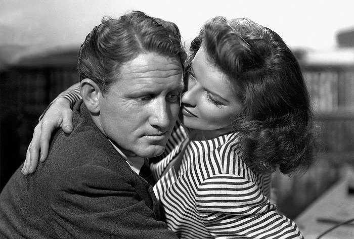 Spencer Tracy a Katharine Hepburn.