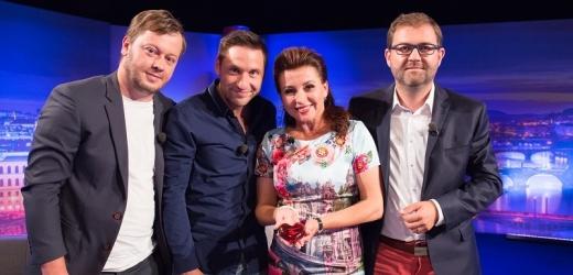 Zleva: Dominik Landsman, Martin Písařík, Dana Morávková a Tomáš Morávek.