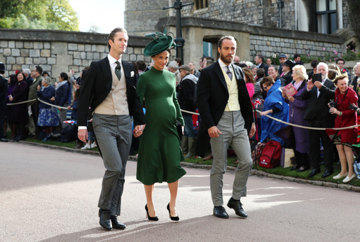 Zleva: James Middleton, Pippa Middletonová a James Matthews.