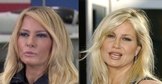 Melania Trump a Jennifer Coolidge.