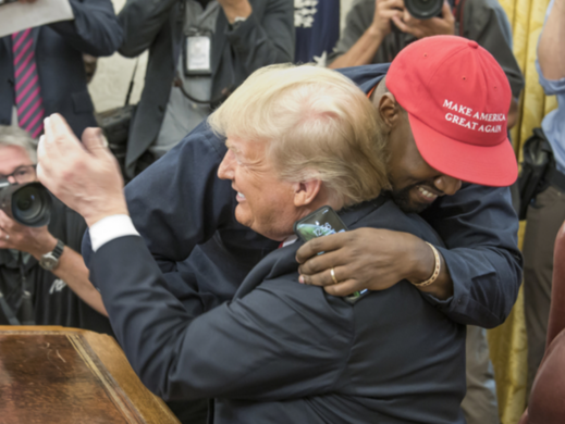 Kanye West a Donald Trump.