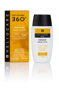 Heliocare 360° Mineral Tolerance Fluid SPF 50.