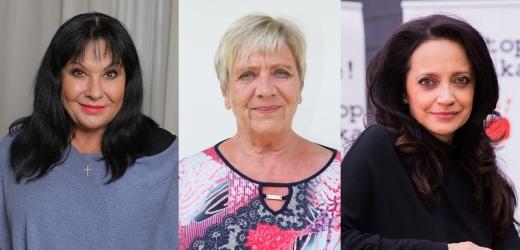 Dáda Patrasová, Lucie Bílá, Jaroslava Obermaierová.