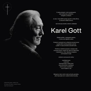 Pohřeb Karla Gotta.