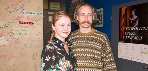 Marie Doležalová s partnerem Markem Zelinkou.