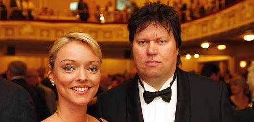 Dominika Gottová s manželem v roce 2009.
