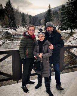 Dana Morávková s manželem a synem.