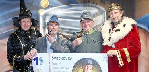 Václav Vydra na křtu bankovky.