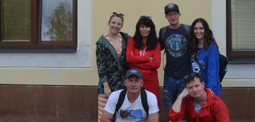 Heidi Janků s kolegy na Lipensku.